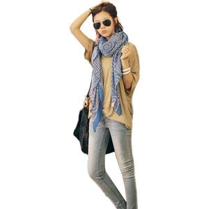 FashionieStore Woman's scarf Lady Women Vintage Long Soft Printed Scarves Shawl Wrap Scarf  BK