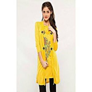 AH Collection Pakistan Yellow Twill Shirt For Women