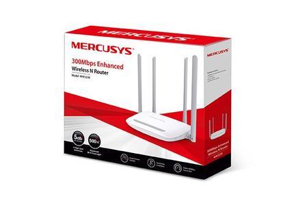 ( Powered by TP-Link ) ( Unifi ) Mercusys MW325R - 300Mbps Enhanced Wireless N Wifi Router , 1 x 10/100M WAN + 4 x 10/100M LAN , 4 x 5dBi fixed high gain antennas