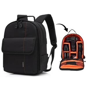 HUWANG Portable Waterproof Scratch-proof Polyester Surface Material Dual Shoulders Backpack Outdoor Sports Camera Bag