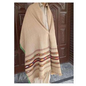 Handmade Khaddar Shawl for Gents - Charsadda Made