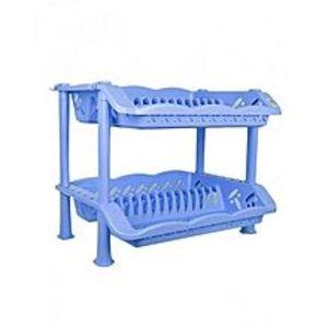 Kitchen ManiaPlastic Plate Rack - Blue