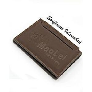 swiftstoreMatte Brown Rugged Texture Cow Leather Wallet with Insertable ID Flap  for Men
