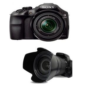 Sony Alpha a3000 DSLR Camera with Lens Hood Petal Style For Nikon Canon Sony Olympus Fujifilm Pentax Sigma Tokina DSLR Camera - Black