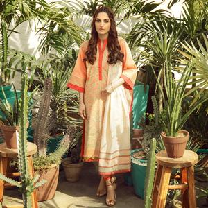 Alkaram studio Spring Summer Collection 2020 Vol I Peach Lawn 2 Piece Suit For Women -A132226732