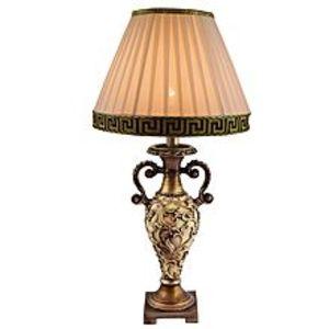 DareechayRoyal Victorian Table Lamp With Versace Shade - White