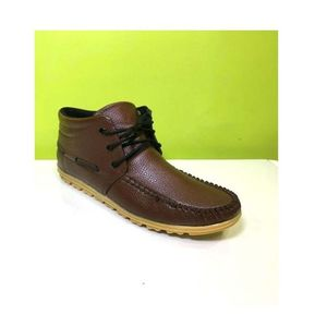 Brown Rexine Lifestyle Sneakers For Men