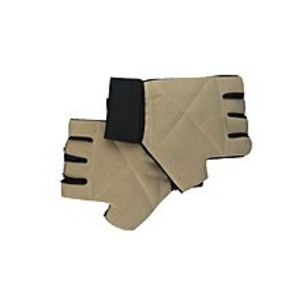 Fitness ClubSports Gym Wrist Wrap Lifting Gloves - Off White