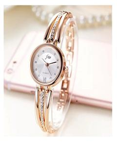 Golden Coloured Gemstone Quartz Watch for Women