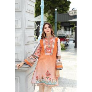 So Kamal Winter Collection  Brown Karandi Embroidered 1PC -Unstitched Shirt DPW18 769 EF01284-STD-BRN