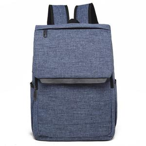 Universal Multi-Function Canvas Laptop Computer Shoulders Bag Leisurely Backpack Students Bag, Size: 42x30x12cm, For 15.6 inch and Below Macbook, Samsung, Lenovo, Sony, DELL Alienware, CHUWI, ASUS, HP(Blue)