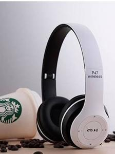 Wireless Headphones, P47 Bluetooth Over Ear Foldable Headset With Microphone Stereo Earphones