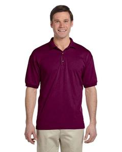 Maroon Cotton Polyester Polo Shirt For Men