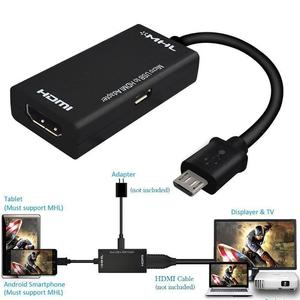HDMI CABLE TO MHL - Micro USB Male to HDMI Female Adapter Converter Cable for Android Cell Phone Tablets TV