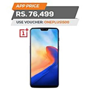 "Oneplus 6 - 6.28"" - 6GB RAM - 64 GB ROM - Mirror Black"