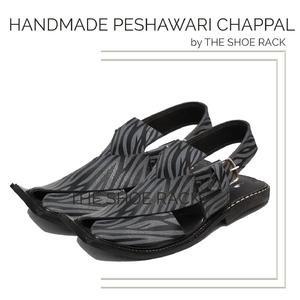 The Shoe Rack Original Leather Handmade Zebra Peshawari Chappal