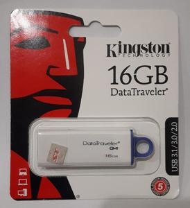 Kingston 16 GB USB Flash Drive (1 Yr Warranty) [3.1, 3.0, 2.0]