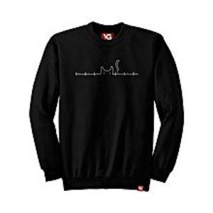 Why GenMy heart beats cat - Black Colour - fleece Sweatshirt
