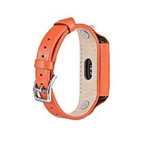 LNKOOXiaomi Mi Band 2 Leather Watch Wristband Strap - Orange