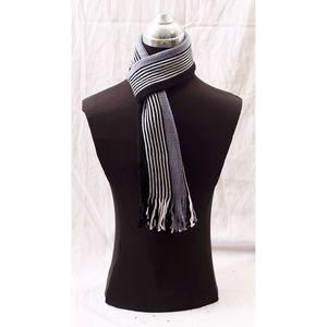 Wool Irani Muffler For Men - Black & Grey
