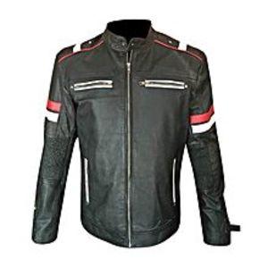 TASHCO ClothingBlack Vintage Leather Jacket for Men