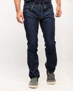 Navy Blue Plain Rinse Denim Jeans for Men