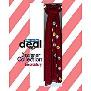 Discounted deals Maroon Cotton Embroidered Stole For Women
