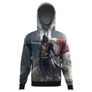 assassins creed origins ALL OVER PRINTED HOODIE-Multicolor-AO-HOOD-68-XS