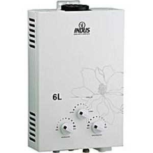 IndusInstant Gas Geyser - 6-Liter - White