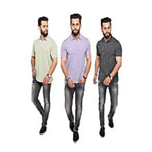 TJ brothersPack Of 3 Lining Polo T-Shirts For Men