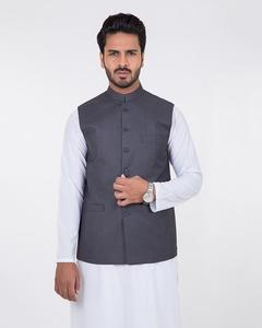 Bonanza Satrangi - D-Gray Suiting Fabric  Waistcoat-50701 - 50701-D-GRAY-M