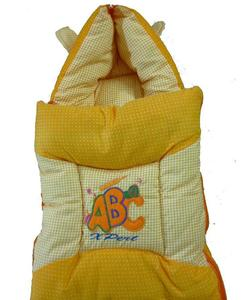 Orange Bunny Ears Sleeping Bag For Baby