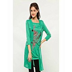 AH Collection Pakistan Green Twill Shirt For Women