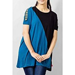 River Rock Black Cotton Tunic for Women - 7862-40