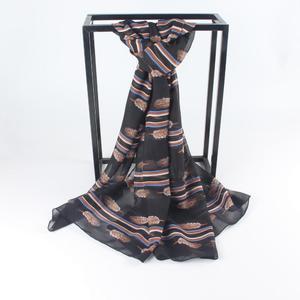Perfect Meet Women Summer Sunscreen Printed Soft Chiffon Shawl Wrap Wraps Scarf Scarves