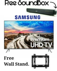 Samsung Samsung - Mu7000 - Smart 4K UHD LED Tv 43 Inches - 7 Series - Resolution: 2160p - Black (With Warrenty)