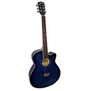 "Slash 40"" Semi Acoustic Guitar with Built in Tuner & 5 Band Equalizer - Blue Burst"