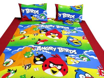 ANGRY BIRDS BED SHEET SINGLE