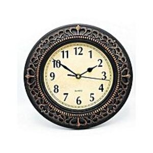 Eiffel Mart Antique Style Wall Clock - Silver - 10X10""