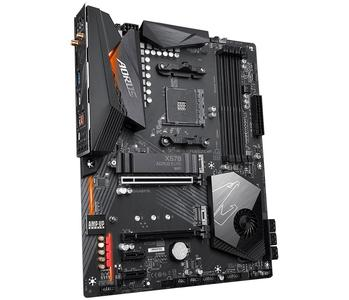 AMD X570 AORUS Motherboard with 12+2 Phase Digital VRM with DrMOS, Advanced Thermal Design with Enlarge Heatsink, Dual PCIe 4.0 M.2 with Single Therma Guards Intel® GbE LAN with cFosSpeed, Intel® Dual Band 802.11ac Wireless, Front USB Type-C, RGB F