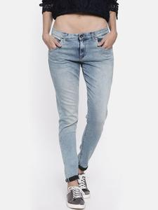Women Blue Regular Fit Mid-Rise Clean Look Stretchable Jeans