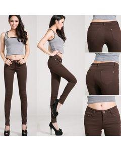 The Ajmery Womens Chocolate Brown Skinny Jeans - BB-00025
