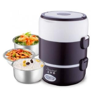 3 Tier Electric Heated Heating Lunch Box Mini Personal Portable Electric Heating Lunch Box, Heated Lunch Box Perfect for Office, Car, Truck, Camping