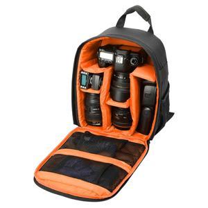 DL-B027 Portable Waterproof Scratch-proof Outdoor Sports Backpack SLR Camera Bag Phone Bag for GoPro, SJCAM, Nikon, Canon, Xiaomi Xiaoyi YI, iPad, Apple, Samsung, Huawei, Size: 27.5 * 12.5 * 34 cm(Orange)