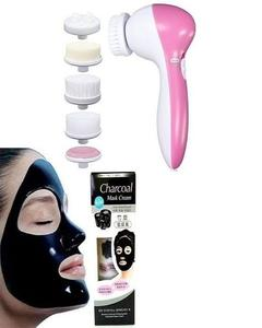 Pack Of 2 - 5 In 1 Face Massager And Charcoal Mask