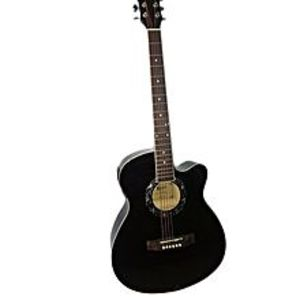 "Slash 40"" Semi Acoustic Guitar with Built in Tuner & 5 Band Equalizer - Black"