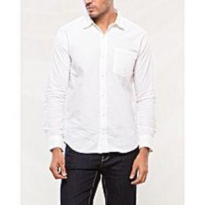 DenizenWhite Cotton Woven Shirt for Men Special Online Price