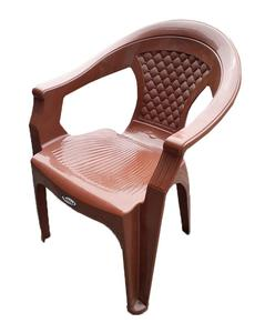 Chief Plastic Chair by Boss Pure Plastic Chair- Chocolate
