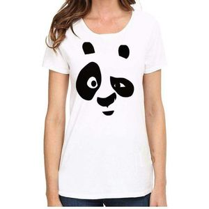 Panda Face - Round Neck T-Shirts - For Women