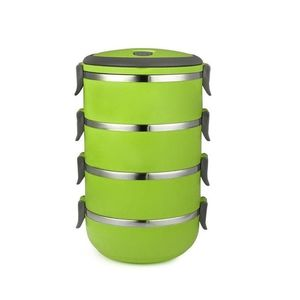 SmartU 4 Layer Stainless Steel Lunch Box - Green